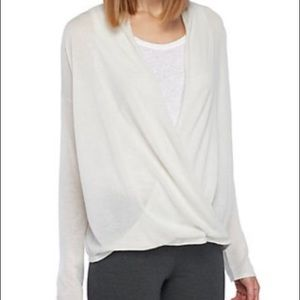 NWT Eileen Fisher V-Neck Faux Wrap Top